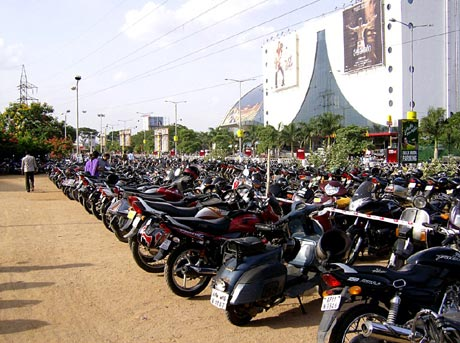 Bike parking in India